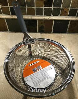 10 Stainless Steel LE CREUSET Fry Basket Insert for 26cm 5.5 Quart Dutch Oven