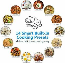 11-in-1 Multi-Use Instant Pot Black Stainless 6-Quart Slow Pressure, Rice Cooker