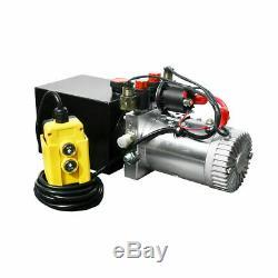 12 Volt Hydraulic Pump for Dump Trailer 4 Quart Poly Double Acting