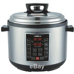 14-Quart 12-in-1 Electric Programmable Pressure Cooker Stainless Steel