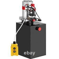 15 Quart Double Acting Hydraulic Pump Dump Trailer Lifting 12V Iron