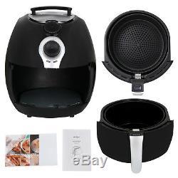 1500W Electric Air Fryer 3.7 Quart WithTimer Temperature Control Detachable Basket