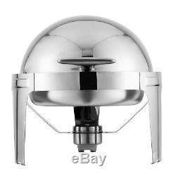 2 Set Chafing Dish Pans 6 Quarts (6.8 L) Round Roll Food Warmer Tray Buffet