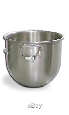 20 Quart Qt Bakery Pizza Dough Mixer Stainless Steel Bowl Hook Paddle & Whip 21
