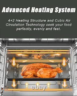 21 Quart Air Fryer Toaster Oven Convection Broil Roaster Dehydrator Countertop