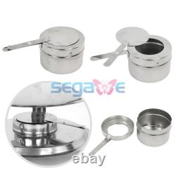 3-Pack Round Chafing Dish Buffet Chafer Warmer Set withLid 5 Quart, Stainless Steel