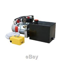 3 Quart Double Acting Hydraulic Pump 12V Dump Trailer- Stainless Steel Reservoir