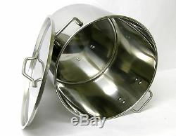 32 40 52 QT Quart Stainless Steel Stock Pot Steamer Brew Kettle withlid BA76-set3