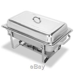 4 Pack Chafing Dish Sets Buffet Catering Folding Chafer Full Size 9 Quart