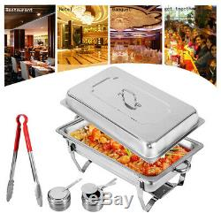 4PACK CATERING STAINLESS STEEL CHAFER CHAFING DISH SETS 8QT PARTY PACK 9L/8Quart