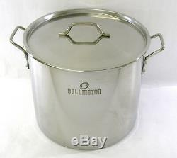 50-52 qt Quart Stainless Steel Stock Pot Steamer Beer Brewing Kettle Tamale NEW
