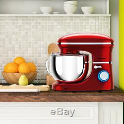 6.3 Quart House Use Tilt-Head Stand Mixer Kitchen Assistant 6 Speed 660W Red