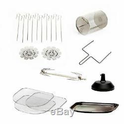 6-Quart Air Fryer Oven Plus/ Food Dehydrator Grill Bake Roast Fry Glass Door