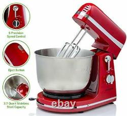 6 Speed Electric Stand Mixer with 3.7 Quart Stainless Steel Mixing Bowl
