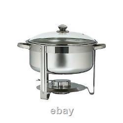 7.9 Quart /7.5 L 2 Pack Full Size Upgraded Stainless Steel Chafing Dish Buffet