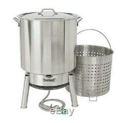 82 qt. Stainless boiler kit bayou classic crawfish cooker steel kds-182 quart