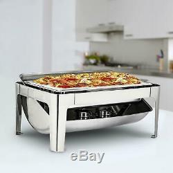 9 L / 9.5 Quart Stainless Steel Chafing Full-size Rectangular Chafer Dish