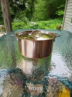 ALL CLAD C2 copper clad 8 qt quart STOCK SOUP SAUCE POT with lid MADE IN AMERICA