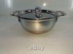 ALL CLAD copper core 2.5 QT quart GRAIN BEAN pot PAN with lid MADE IN AMERICA