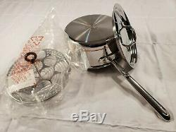 ALL CLAD copper core 3 qt QUART SAUCE pot PAN with lid MADE IN AMERICA