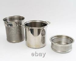 All Clad 12 Quart Pasta Pot Pentola 4 Piece Set Perforated Insert & Steam Basket