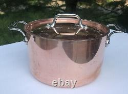 All Clad 4 Quart Copper Stainless Steel Soup Pot Copper Silver With Lid