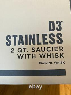 All-Clad 4212 With Whisk D3 Saucier 2-Quart Silver