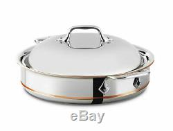 All-Clad 5-Ply Copper Core Stainless Steel 3-quart Sauteuse with Lid