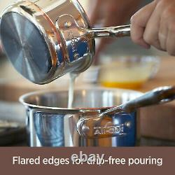 All-Clad 640318 SS Copper Core 3-Quart Sauteuse Pan with Lid FACTORY SECONDS