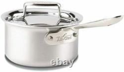 All-Clad BD55201.5 D5 Brushed Stainless Steel Sauce Pan, 1.5-Quart New in Box