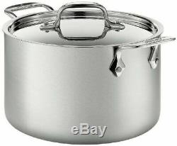 All-Clad BD552043 D5 Brushed 18/10 Stainless Steel 5-Ply Bonded 4-Quart