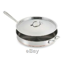 All-Clad Copper Core 6-Quart Saute Pan with Lid & Loop 6406 SS NEW IN BOX