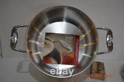 All-Clad D5, 18/10 Brushed Stainless Steel 5-Ply, 8 Quart Stock Pot NEW
