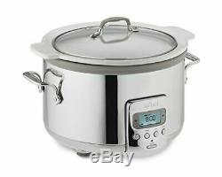 All-Clad SD710851 4-Quart Slow Cooker with White Ceramic Insert & Glass Top NDB