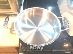 All-Clad Stainless 3 quart sauteuse with All Clad spoon new in box