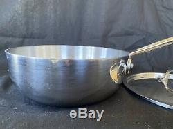 All-Clad Stainless Steel, 2-Quart Saucier Pan With Lid