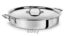 All-Clad Tri-ply Stainless Steel 4.5-quart Sear & Roast Pan with Lid