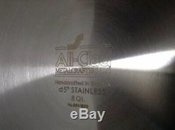 All-Clad d5 8 Quart 5 Ply Stainless Steel Stock Pot with Lid Brushed