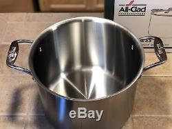 All-Clad d5 Brushed Stainless Steel Stockpot, 12 Quart. BRAND NEW