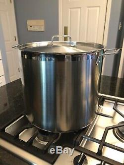 All-clad brushed stainless steel stock pot 20 quart