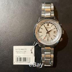 Auth Seiko Watch Sun067p1 Gmt Kinetic Automatic Quart Stainless Steel 44 MM F/s