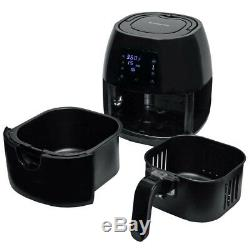 Avalon Bay 3.7 Quart Digital Programmable Stainless Steel Air Fryer with Recipes