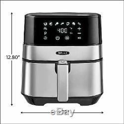 BELLA (14734) Touchscreen Air Fryer, 5.3 Quart 1700 watts Stainless Steel ninja