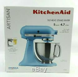 BRAND NEW Kitchen Aid Artisan Series 5 Quart Tilt-Head Stand Mixer Blue Sealed