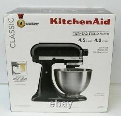 BRAND NEW KitchenAid Classic 4.5-Quart Tilt Head Stand Mixer Black