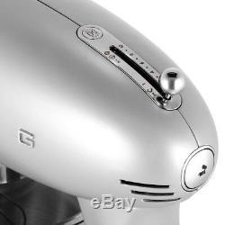 BRAND NEW SMEG 600 WATT 5-QUART BOWL 1950s STYLE RETRO PRO STAND MIXER SILVER