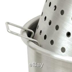 Bayou Classic Crawfish Boiling Cooker Kit 82 Quart Stainless Steel Model KDS-182