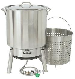 Bayou Classic KDS-182 Crawfish Boiling Cooker Kit 82 Quart Stainless Steel
