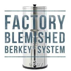 Berkey Water Filter Purify with 2 BB-9 Black Filters System Authorized Blemished