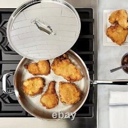 Breville Thermal Pro 5 Quart Stainless Saute / Frying Pan with Lid